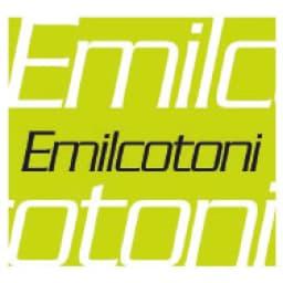 イタリア素材 エミルコットーニ スカラップVネック半そでニット