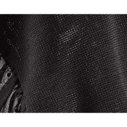 袖フロッキー ドット シフォン使い7分袖ニット(サイズLL)