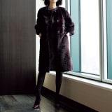 SAGA ホワイトミンクコート(ボルドー) 写真