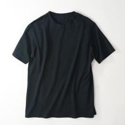 2枚組Tシャツ クルーネック(日本製) 同色2枚組 ブラック