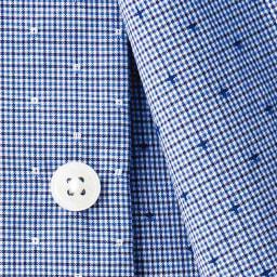 ドビーチェック柄レギュラーカラーシャツ ネイビー