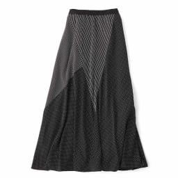 ドット×ストライプ  切り替えスカート Back Style