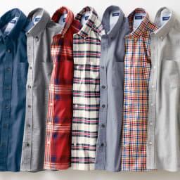 SCENE/シーン ジャパンメイド ヘリンボーン チェック シャツ スリム 「SCENE(R)」×「DINOS CHORD」のボタンダウンシャツシリーズ