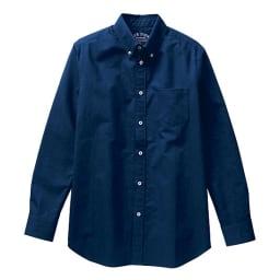 (3L・5L)オックスフォード ボタンダウンシャツ (長袖) (ウ)ネイビー系