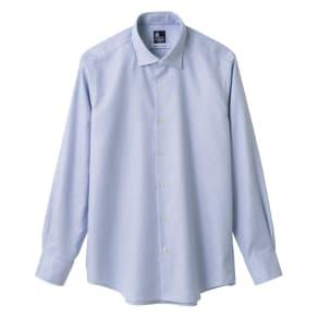 ドビー柄ワイドカラーシャツ(日本製) 写真