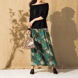 ペイズリープリント フレアースカート 写真