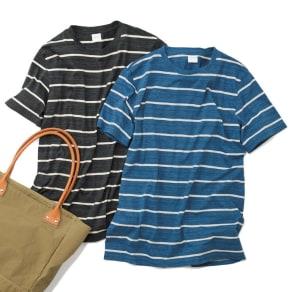 スペック染めボーダーTシャツ 写真