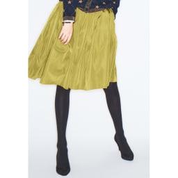(総丈73cm)TRECODE/トレコード 神戸・山の手スカート (ク)イエロー コーディネート例