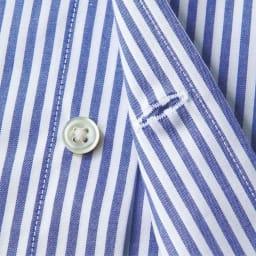 100番双糸 GIZAコットン ボタンダウン ワイシャツ(サイズ37-82) 天然の貝ボタンを使用。可動域が広がるよう、一番下のボタンホールは横向きにしました。 ※今回こちらのお色の販売はございません。