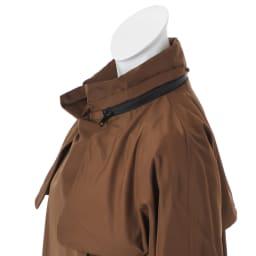 グログランゴムベルト付き 撥水加工 フーデッドコート
