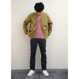 (股下丈76cm) ジャパンメイドヴィンテージ テーパードチノパンツ 身長:175cm 79サイズ着用