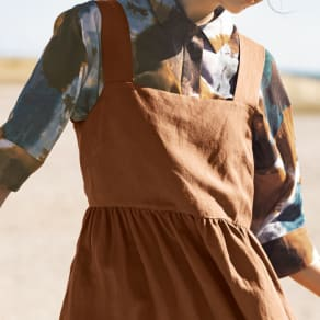 EMA BLUE'S/エマブルー タイダイ風プリント とろみシャツ 写真