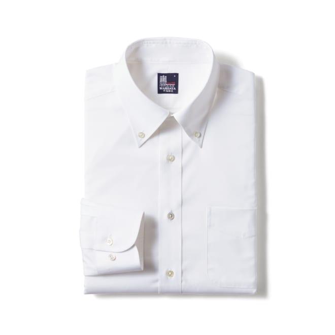 100番双糸 GIZAコットン ボタンダウン ワイシャツ(サイズ37-82) ホワイト