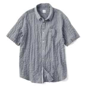 オーガニックコットン ショートスリーブシャツシリーズ (ネイビーグレー)シャーリンググレイッシュ(サイズM) 写真