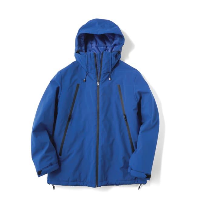 止水ジップ使い機能 中綿 撥水 ジャケット   ブルー