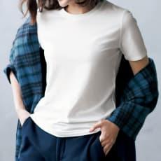 洗えるハイゲージコットンベア天竺シリーズ クルーネック 半袖 Tシャツ【2点以上で10%OFF】