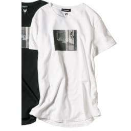WORDROBE/ワードローブ プリントTシャツ フォト柄(ラインストーン付き) (ア)ホワイト