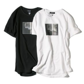 WORDROBE/ワードローブ プリントTシャツ フォト柄(ラインストーン付き) 写真