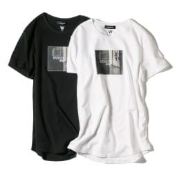 WORDROBE/ワードローブ プリントTシャツ フォト柄(ラインストーン付き) 左から(イ)ブラック (ア)ホワイト