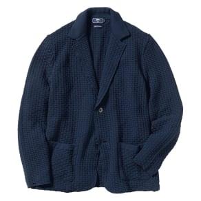 「GIM」 ワッフル編みニットジャケット 写真