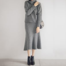 強縮絨ニット マーメイドスカート