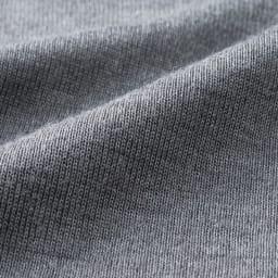 【S・M・L】 ウールシルク 暖かインナー Vネック スリーブレス (イ)チャコールグレー 生地アップ