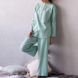 コットンダブルガーゼ デザイン パジャマ 着用例