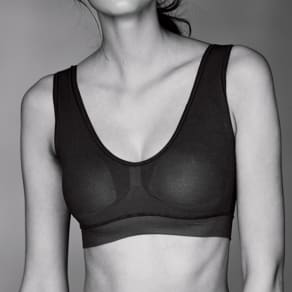 肌側シルク成型編み ハーフトップブラ 写真