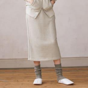 ウォッシャブルウール混 裏毛シリーズ スカート 写真