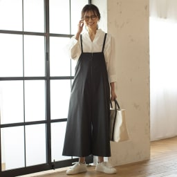 コットン ブロード スキッパーシャツ ホワイト H163 着用サイズ:1(MーL)