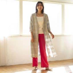 YUKIKO OKURA/ユキコ・オオクラ K10 ルビーヘッド付き ルビーインゾイサイト ネックレス コーディネート例