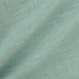 リネン素材 タック ワイドパンツ (ア)グリーン 生地アップ