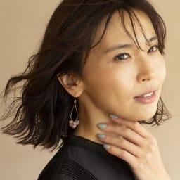 YUKIKO OKURA/ユキコ・オオクラ レピドライト ドロップ イヤリング・ピアス (イ)ピアス 着用例