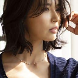 YUKIKO OKURA/ユキコ・オオクラ 淡水ケシパール ネックレス 着用例