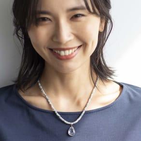 YUKIKO OKURA/ユキコ・オオクラ SV シリマナイト クォーツヘッド付き ネックレス 写真