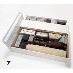 【レンタル仮申込】光沢が美しい収納ベッド フレームのみ ダブル お部屋が片づく大量収納が自慢 床板の下は長さ190cmまでの長尺物が収納可能。深型タイプで旅行用バッグなども対応。引き出しと併せてたっぷり収納。