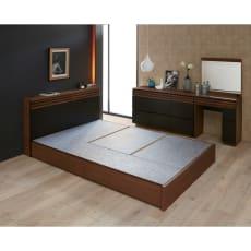 【レンタル仮申込】Alus Style/アルススタイル ベッド ベッドフレームのみ ダブルサイズ幅140.5cm