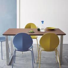【レンタル仮申込】GlanPlus/グランプラス ウォルナットダイニングテーブル 幅140cm