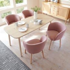 【レンタル仮申込】Ridge/リッジ ダイニングテーブル 天然木長方形テーブル 幅160cm