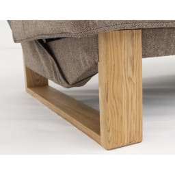 【レンタル商品】ツイード調ソファベッド 幅188cm 脚部はタモ天然木の無垢材です