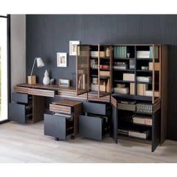 【レンタル商品】AlusStyle/アルススタイル 薄型ホームオフィス ブックシェルフ幅40.5cm [コーディネート例] たっぷり収納力で、おうちの中の本や書類もひとまとめに。