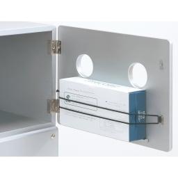 【レンタル商品】ROBIT/ロビット 収納ロボ[ete・えて ] 顔部裏にティッシュボックスがセットでき、口から取り出せます。
