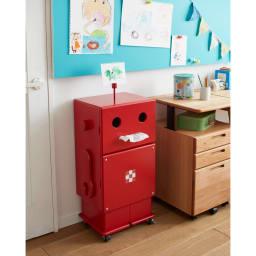【レンタル商品】ROBIT/ロビット 収納ロボ[ete・えて ] ナチュラルなお部屋にビビッドなレッドを合わせてもかわいいネ!