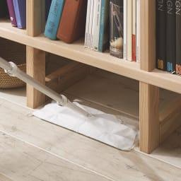 【レンタル商品】国産杉 頑丈スクエアラック 1列 幅39奥行23cm 足元に空間があるのでお掃除も楽々。