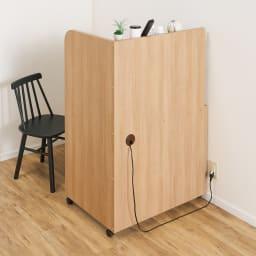 【レンタル商品】テレワークにおすすめ!おこもり個室デスク 幅85.5cm 反対側から。ごちゃつきもすっきり隠せます。