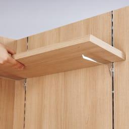 【レンタル商品】テレワークにおすすめ!おこもり個室デスク 幅85.5cm バックパネルの棚板は引っ掛け式。2.5cm間隔で高さ調整ができます。