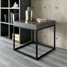 【レンタル商品】Petra(ペトラ) コンクリート調サイドテーブル