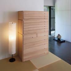 【レンタル商品】自分仕様に造れる 総桐ユニット箪笥 着物収納箪笥3段