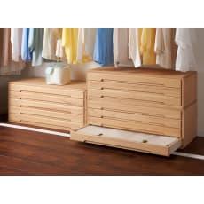 【レンタル商品】自分仕様に造れる 総桐ユニット箪笥 着物収納箪笥4段