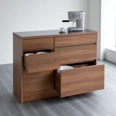 【レンタル商品】Granite/グラニト アイランド間仕切りキッチンカウンター幅120cm 引き出しタイプ